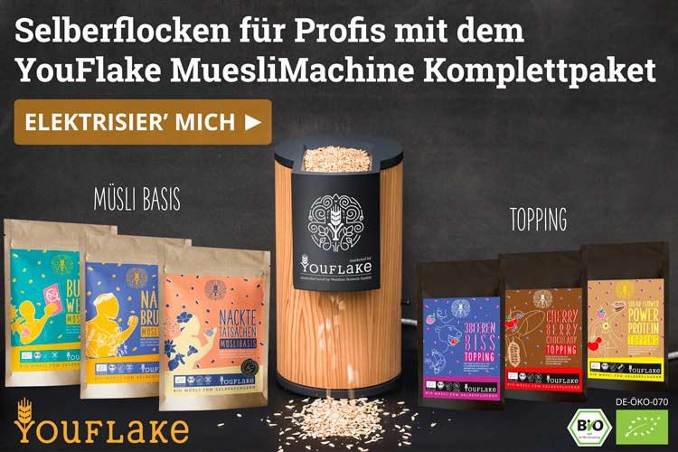 YouFlake MuesliMachine Lärcheelektrische Flockenquetsche